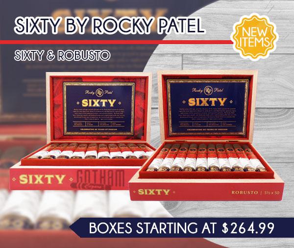 New Item! Sixty by Rocky Patel