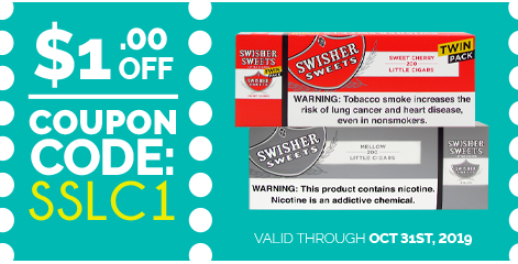 Swisher Sweets Little Cigars and Twin Packs Coupon