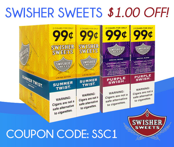 Swisher Sweets Cigarillos $1.00 OFF!