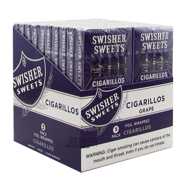 Gotham Cigars coupon: Swisher Sweets Cigarillos Grape Pack