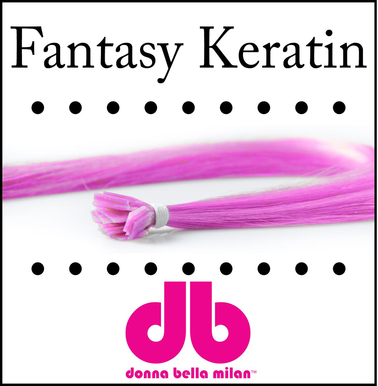 "Donna Bella Kera-link Fantasy fusion, 20 strands, 18"""