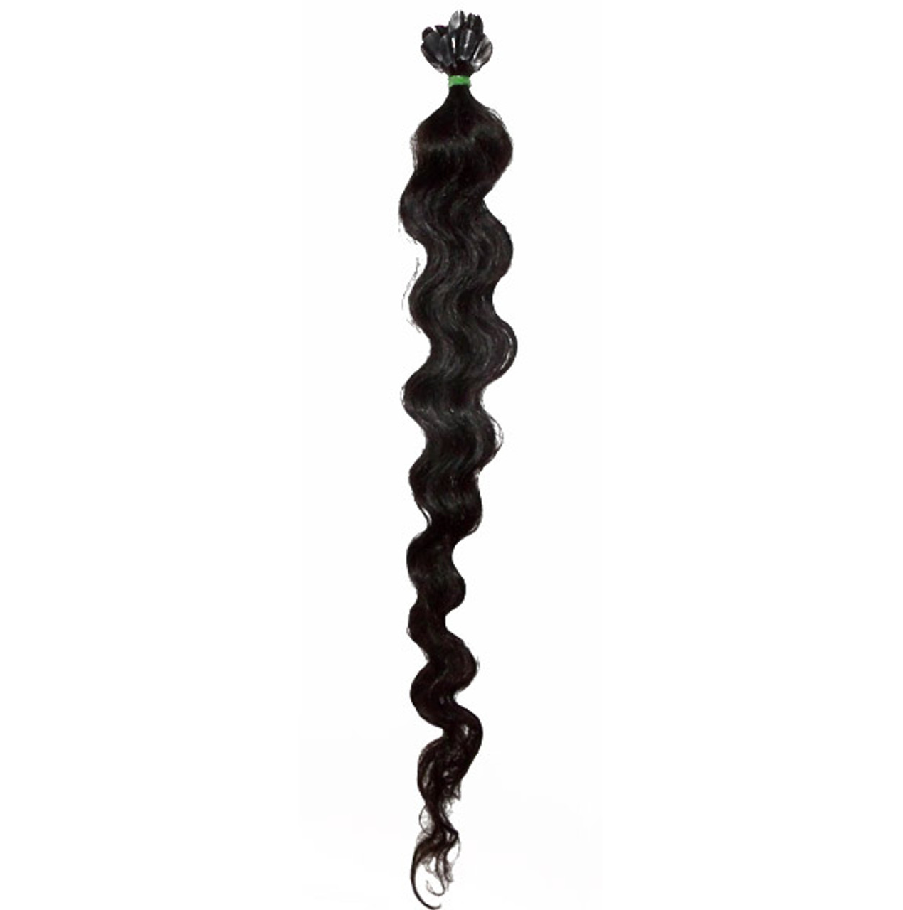 """Curly Q 22"""" Indian Temple Hair, keratin tipped, 25 strands"""