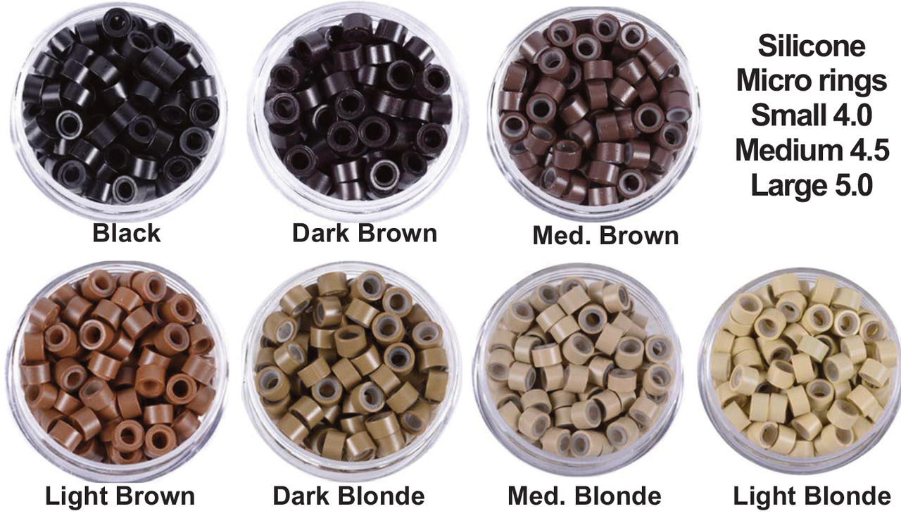 silicone micro rings for beaded rows and I tip hair extensions