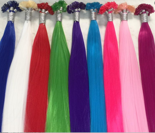 Party Colored Hair Extensions (Heat Resistant Synthetic)