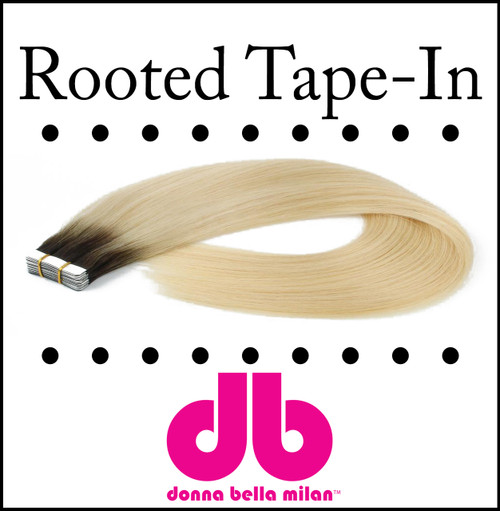 """Donna Bella Rooted Tape-ins 10 strands, 18"""""""