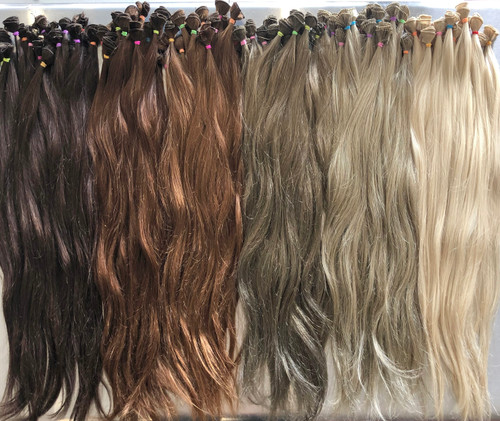 """Q Indian Hand Tied Wefts 20"""" - 14g"""