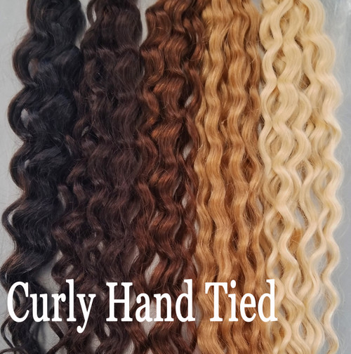 Curly Hand Tied hair extensions