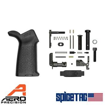 Aero Precision AR15 MOE Lower Parts Kit Minus FCG Black
