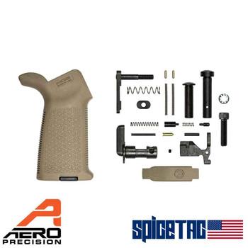 Aero Precision AR15 MOE Lower Parts Kit Minus FCG FDE