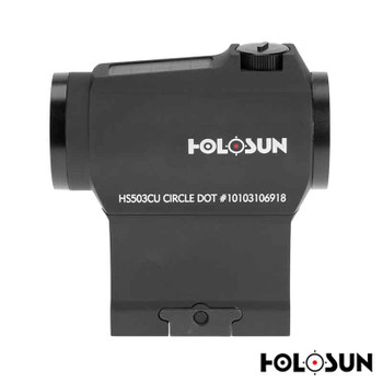 Holosun HS503CU Paralow Red Dot Sight 1x 20mm 65 MOA Circle with 2 MOA Dot Picatinny- Style Low and Lower 1/3 Co-Witness Mounts Matte