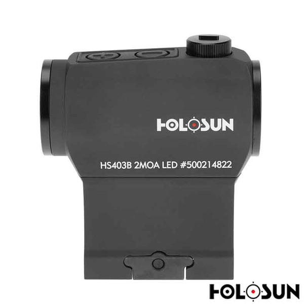 Holosun HS403B Paralow Red Dot Sight 1x 2 MOA Dot Picatinny-Style Low and Lower 1/3 Co-Witness Mounts Matte For Sale