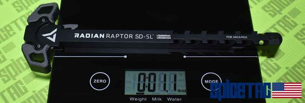 Raptor SD SL Charging Handle Weight