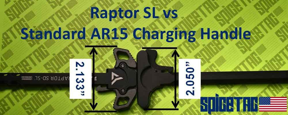 Raptor SL vs Standard AR15 Charging Handle Size Difference Measured
