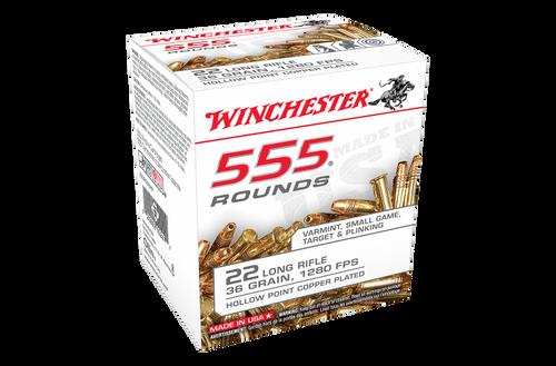Winchester 555 rnds .22lr 36gr HP