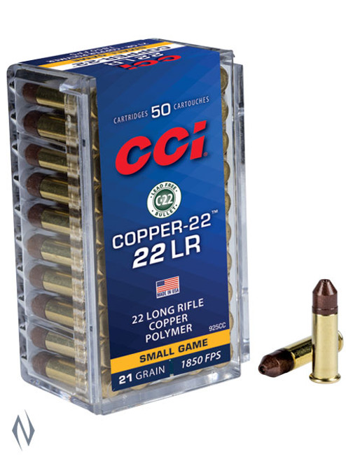CCI 22LR 22 Copper 21gr HP 1850FPS 50pk