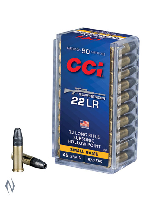 CCI 22LR Suppressor 45gr HP