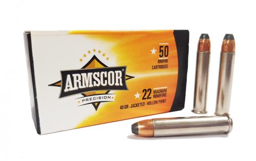 Armscor 22 Magnum 40gr JHP 50pk