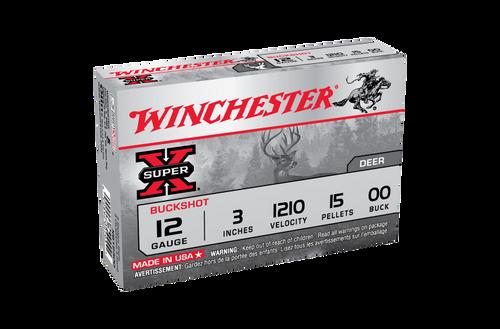 Winchester SuperX Buckshot 12G 00 Buck 3in 15 Pellet