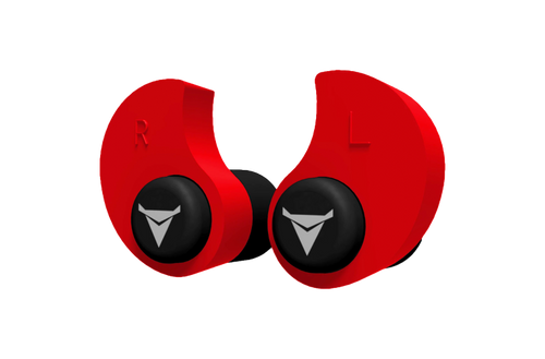 Decibullz Custom Molded Earplugs Red