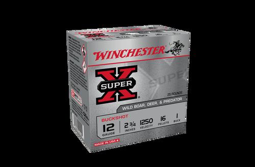 Winchester Super X Buckshot 12g 1Buck 2-3/4in 16 Pellet