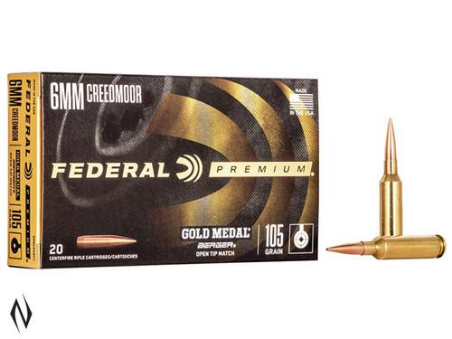 Federal 6mm Creedmoor 105gr Berger BTHP Gold Medal