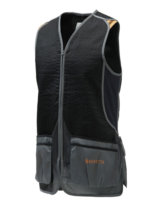 DT11 Cotton Slide Vest Black