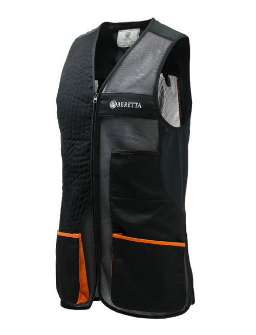 Olympic Vest 3 Jet Black & Orange