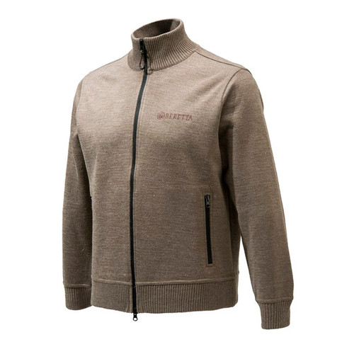 Tech Windshield Full Zip Sweater Brown