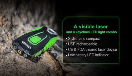 GL20 2-in-1 Laser Keychain Light