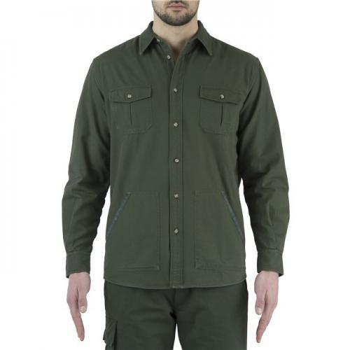 Flannel Overshirt Green/Beige