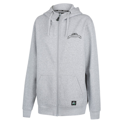 RL Womens Impact Recycled Zip Front Hooded Fleece Grey Marle