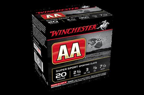 "Winchester AA Super Sporting 20G 7.5 2-3/4"" 24gm"