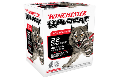 Winchester Wildcat 22LR 40gr Copper Plated Solid Dynapoint 500pk
