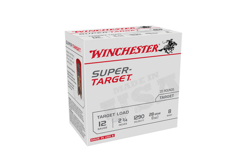 Winchester Super Target 12ga 1290fps 7.5 2-3/4in 28gm Slab