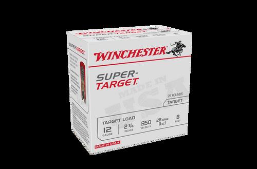 """Winchester Super Target 12ga 1350fps 8 2 3/4"""" 28gm Slab"""