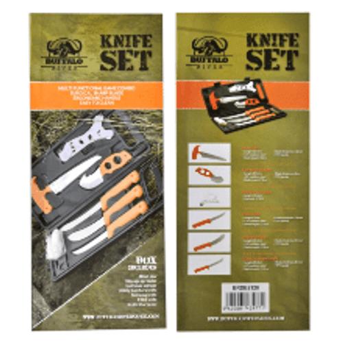 Buffalo River Slaughter/Knife Set w/Sharpener