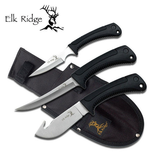 Elk Ridge 3pc Hunting Knife Set