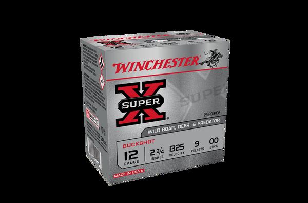 Winchester SuperX 12g 00 Buck 2-3/4 9 Pellet 25pk