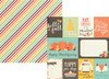 Happy Harvest Collection Journaling Card Elements 12 x 12 Double-Sided Scrapbook Paper by Simple Stories