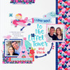 French Kiss Collection Just Rosey 12 x 12 Double-Sided Scrapbook Paper by Doodlebug Design