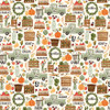 Hello Autumn Collection Fall Harvest 12 x 12 Double-Sided Scrapbook Paper by Carta Bella