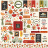 Hello Autumn Collection Elements 12 x 12 Cardstock Scrapbook Sticker Sheet by Carta Bella