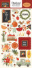 Hello Autumn Collection 6 x 12 Chipboard Accents Scrapbook Embellishments by Carta Bella