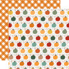 Happy Fall Collection Pumpkin Spice 12 x 12 Double-Sided Scrapbook Paper by Echo Park Paper