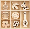 Antiquities Collection Wooden Flourish Pack by Kaisercraft - 40 Pieces