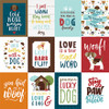 My Dog Collection 3 x 4 Journaling Cards 12 x 12 Double-Sided Scrapbook Paper by Echo Park Paper