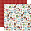 My Dog Collection Stay Paws-itive 12 x 12 Double-Sided Scrapbook Paper by Echo Park Paper