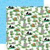 Zoo Adventure Collection Jungle Animals 12 x 12 Double-Sided Scrapbook Paper by Carta Bella