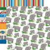 Zoo Adventure Collection Elephants 12 x 12 Double-Sided Scrapbook Paper by Carta Bella