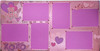 Be Mine Sweet Valentine Pre-made Embellished with Flocked & Shimmer Paper 2 - 12 x 12 Scrapbook Layout Pages by SSC Designs